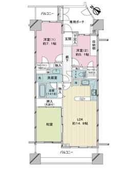 ライオンズステージ横濱キャナルスクエアの間取図