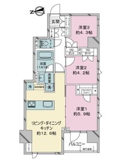 ベルジェンドセンター南デュアリエの間取図