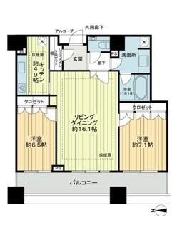 コンシェリア西新宿TOWER´S WESTの間取図