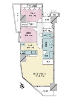 エンゼル川崎グランディアの間取図