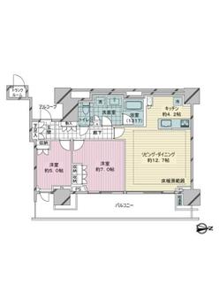 THE COURT 神宮外苑の間取図