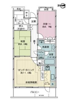 中村橋南パーク・ホームズの間取図