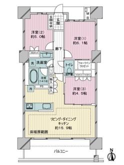 ライオンズ横濱瀬谷ステーションスクエアの間取図