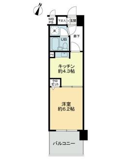 ライオンズマンション与野本町第6の間取図