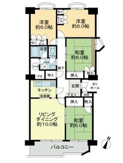 矢田川パークハウスD棟の間取図