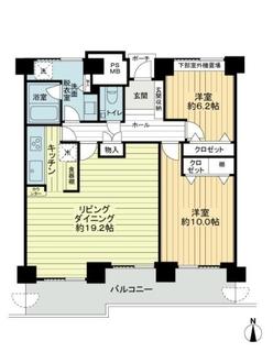 桜宮リバーシティ・ウォータータワープラザの間取図