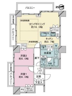 プラウドタワ-名古屋丸の内の間取図