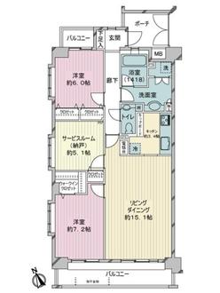リシェ新横浜の間取図