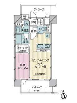 グローベル川崎 ミッドスクエアの間取図