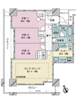 ザ・レジデンス神戸元町通の間取図