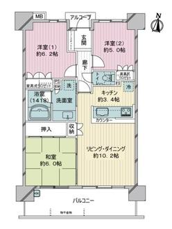 サーパス川崎大島の間取図