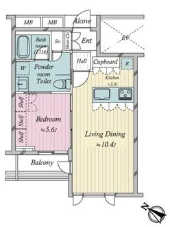 D'クラディア神宮外苑ハイヴァリーの間取図