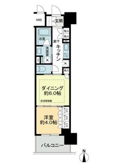 ブランズ大阪本町の間取図