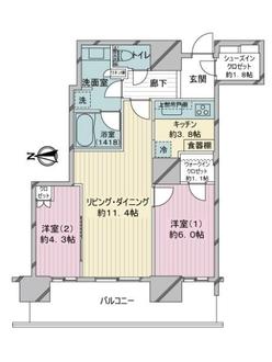 パークシティ武蔵小杉ミッドスカイタワーの間取図