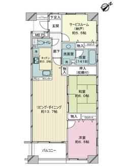 ライオンズマンション横濱山下公園の間取図