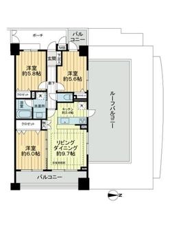 クレッセント武蔵新城3の間取図