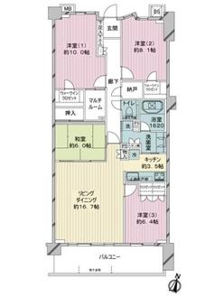 レーベン横浜汐見台ソラノテの間取図