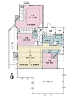 イーグルコート京都六角雅心庵の間取図