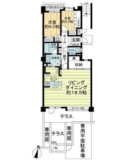 ライオンズガーデンヒルズ富士見台五番館の間取図