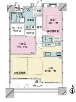 ヒューマインド姪浜駅南公園ルマージュの間取図