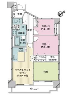 ライオンズマンション羽田第2の間取図