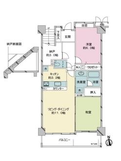 コスモ戸田ピアハイツの間取図