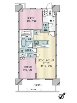 サンクレイドル東神奈川の間取図