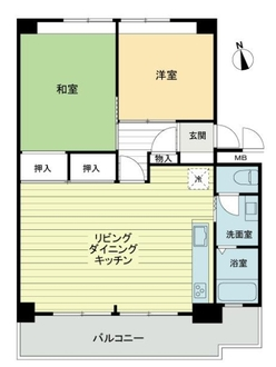 高島平3の11の8号棟の間取図