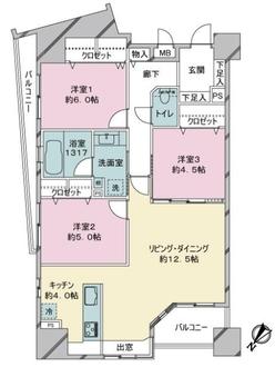 コモダス奈良屋の間取図