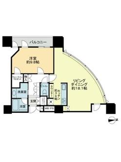 シティタワー大阪の間取図