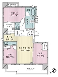 クリオ新横浜ザ・イーストの間取図