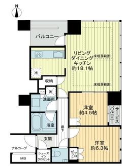 堂島ザ・レジデンスマークタワーの間取図