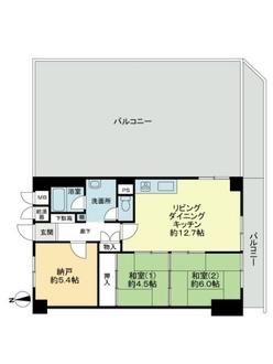 ライオンズマンション第七江坂の間取図