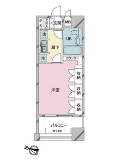 スタジオ・スクエア人形町の間取図