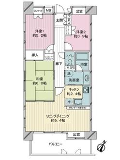ハイホーム川崎の間取図