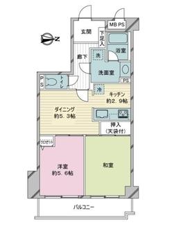 ライオンズマンション武蔵新城第3の間取図
