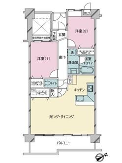 ライオンズガーデン武蔵関公園弐番館の間取図