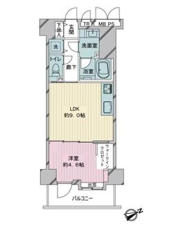 ライオンズシティ西新宿の間取図