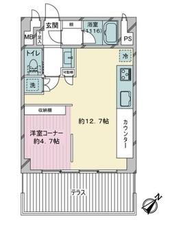 ステージ仙台坂B棟の間取図