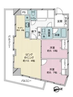 ライオンズマンション駒沢の間取図
