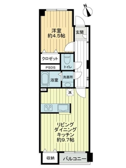 自由ヶ丘フラワーマンションの間取図