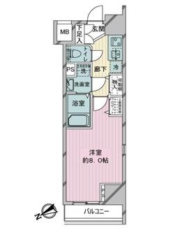 アイル銀座京橋壱番館の間取図