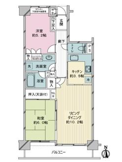 藤和ライブタウン鷺沼東ステージ・1の間取図