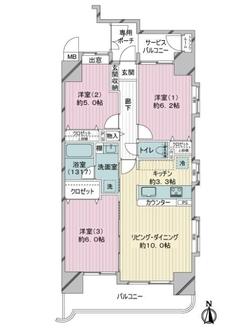 ダイアパレス篠崎の間取図