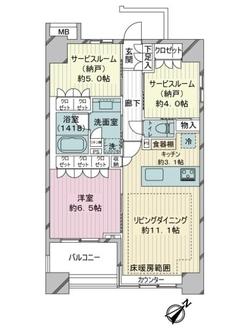 レジデンシア新横浜の間取図