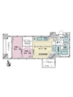 クレヴィア東京八丁堀 Chuo Minatoの間取図