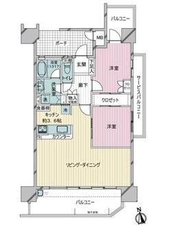 レゾンシティ安城桜町の間取図