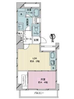 麻布十番ハウスの間取図
