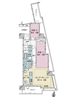 プラウドタワー川口の間取図