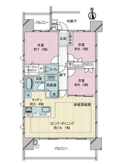 ライオンズ名古屋ステーションアクシスの間取図